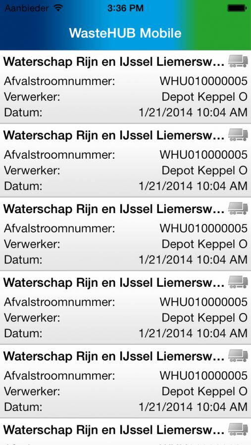 Wastehub EBA App 2
